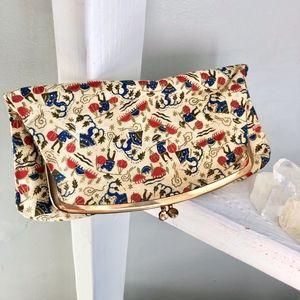 Vintage Folding Fabric Clutch
